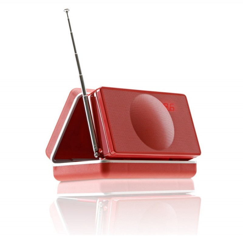 Geneva Xs Portable Speaker System With Bluetooth In Red