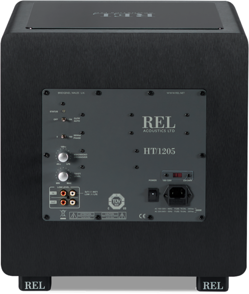 REL HT 1205 Subwoofer Black Rear