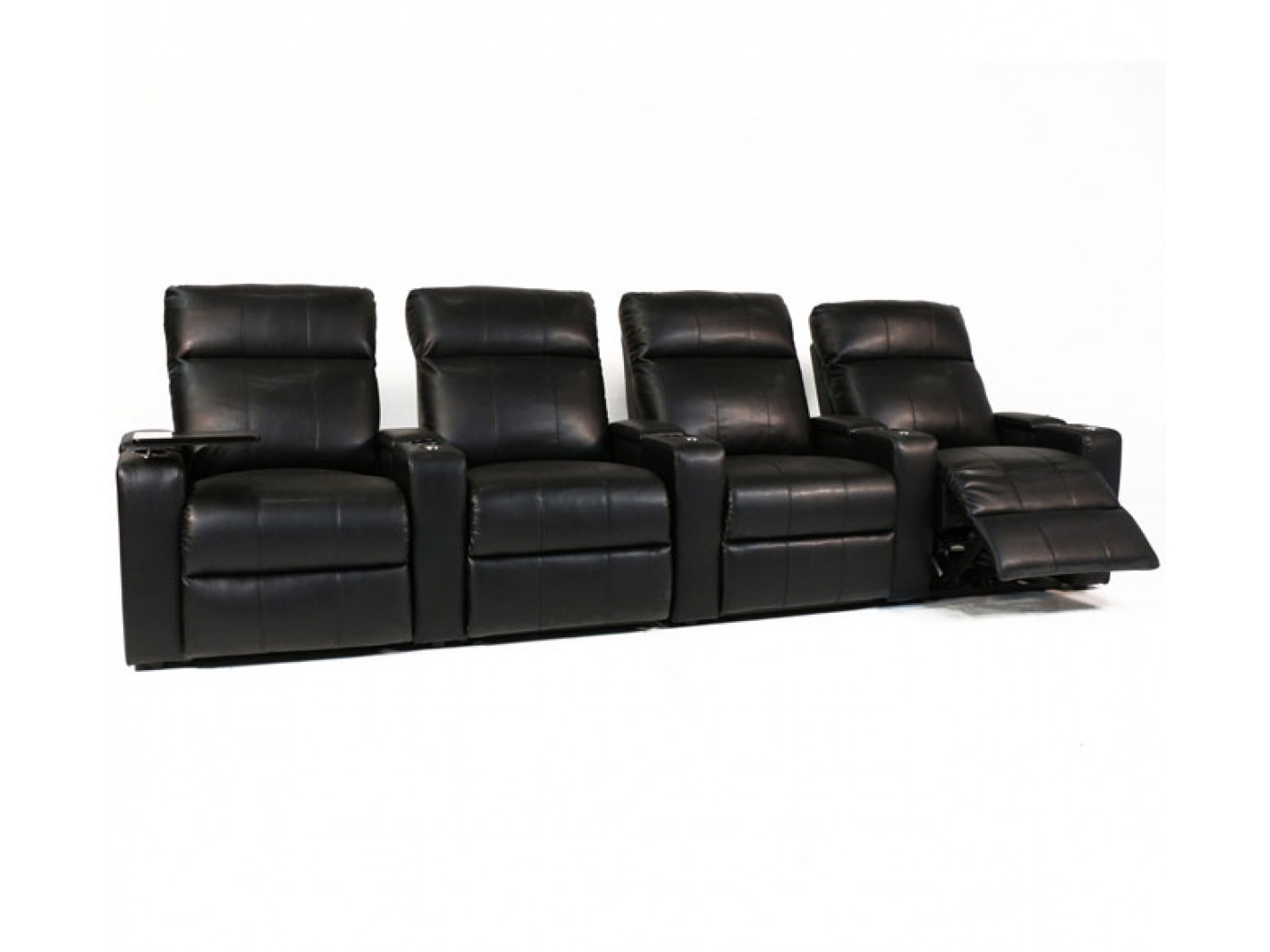 Rowe One Plaza 4 Seater In Black