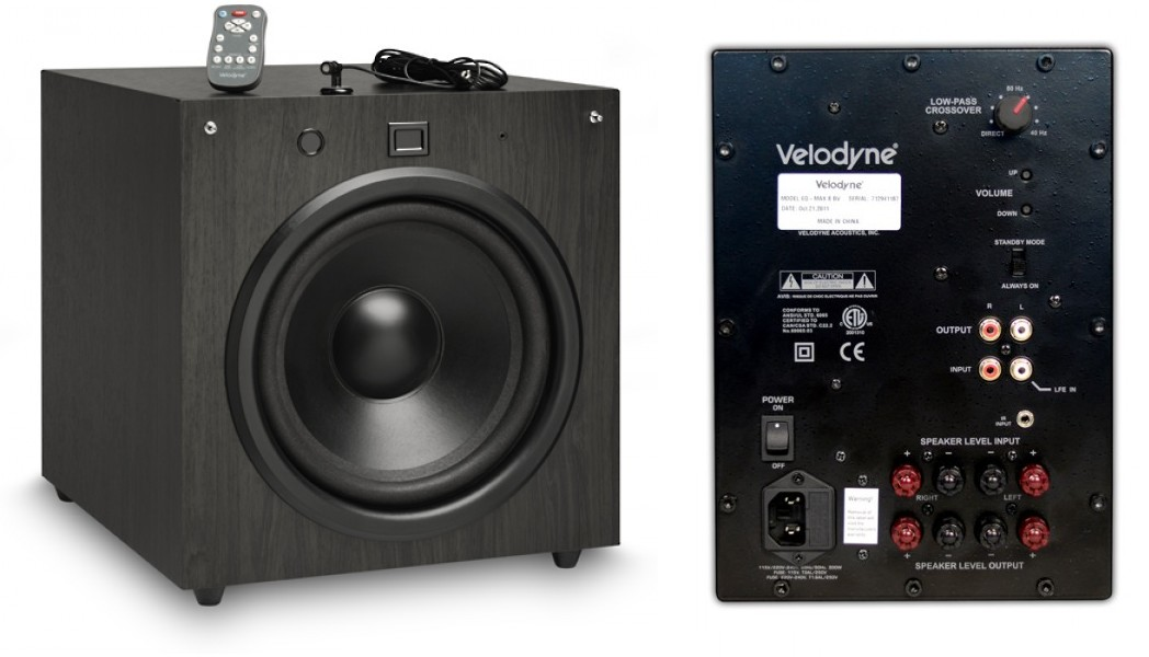 Velodyne EQMAX 8 Front And Rear