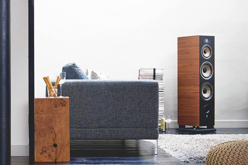 Focal JM Labs Aria 948 floor stand speaker - Walnut (vinyl