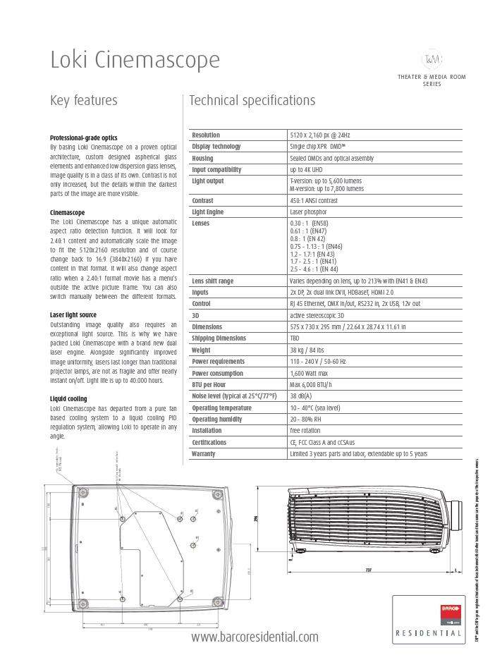 barco loki cs - r9021012 - 4k dlp xpr cinemascope projector