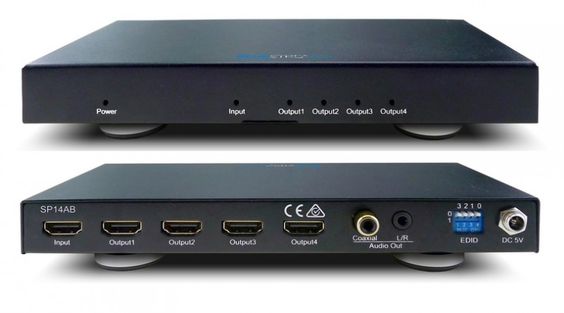 BlueStream SP14AB 1 HDMI in to 4 HDMI out, splitter