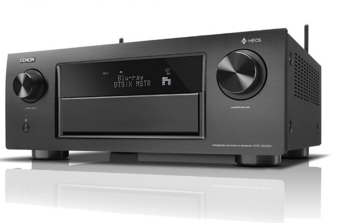 Denon AVR-X6400H 11.2 channel home theatre receiver with HEOS